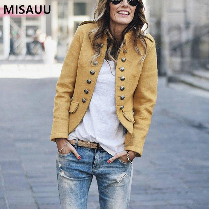 Retro Autumn   Jacket   Women Long Sleeve Bomber Female   Jacket   Yellow Slim Casual Coat Winter Streetwear   Basic     Jacket   Outerwear Top