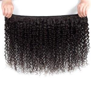 Image 2 - Sweetie Indian Hair Afro Kinky Krullend Hair Extensions 100% Menselijk Haar Weave Bundels Natuurlijke Kleur 3/4 Stuks 100G Non  Remy