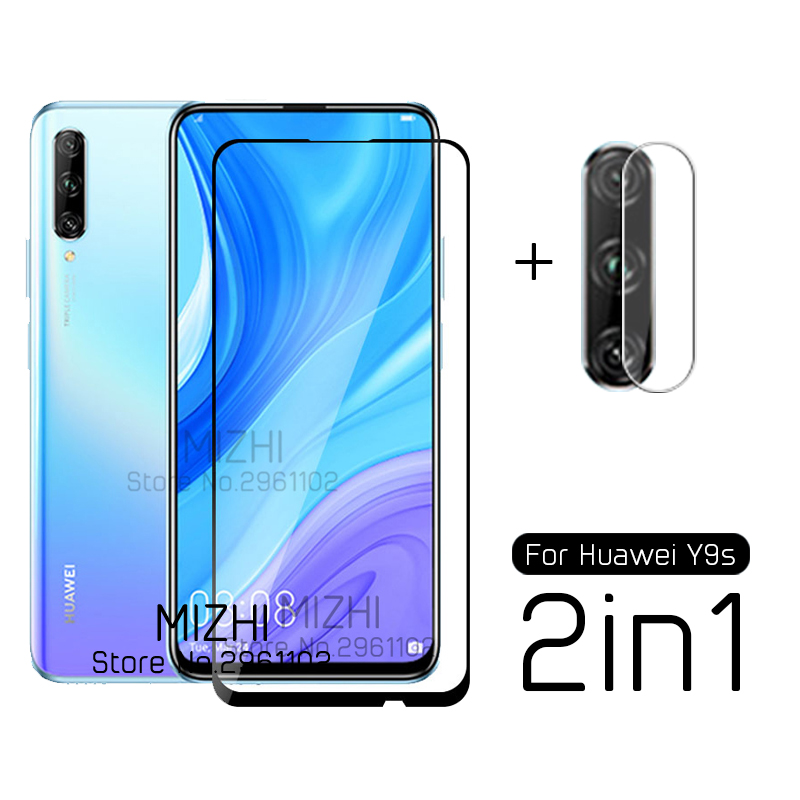 2 In 1 Protective Glass For Huawei Y9s Camera Lens Screen Protector On Huwei Huaweii Y9s Y 9s Y9 S Stk-l21 Tremp Glasses Film