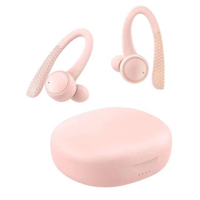T7 Pro TWS 5.0 bezprzewodowy Bluetooth słuchawka hi fi Stereo słuchawki bezprzewodowe zestaw słuchawkowy dla aktywnych z etui z funkcją ładowania kolor dla dziewczyny