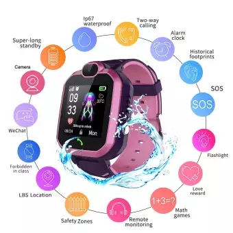 Original <font><b>R7</b></font> <font><b>Smart</b></font> <font><b>Watch</b></font> IP67 Waterproof Child <font><b>Smart</b></font> <font><b>Watch</b></font> Children SOS Alarm Locator LBS Tracker Anti-lost Monitor Voice Call image