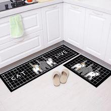 Геометрический классический длинный кухонный коврик для ванной