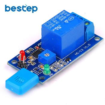 цена на HR202 DC 5V 12V 1 Channal 1CH Humidity Sensitive Switch Relay Module Humidity Controller Humidity Sensor Module With Indicator