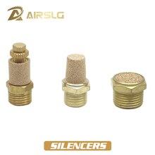 Pneumatic Brass Exhaust Muffler BSL BMSL BESL M5 1/8 1/4 3/8 1/2 Throttle Silencers Fitting Noise Filter Reducer Connector 5pcs lot mt5363lyyg bmsl