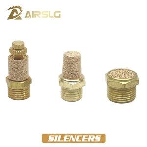"""Pneumatic Brass Exhaust Muffler BSL BMSL BESL M5 1/8"""" 1/4"""" 3/8"""" 1/2"""" Throttle Silencers Fitting Noise Filter Reducer Connector()"""