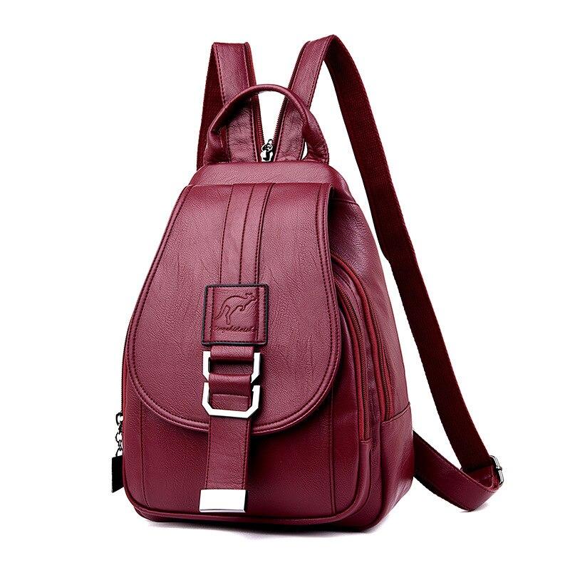 atinfor Brand Anti Theft Women Leather Backpacks Purse Vintage Female Shoulder Bag Travel Small Backpack Lady atinfor Brand Anti Theft Women Leather Backpacks Purse Vintage Female Shoulder Bag Travel Small Backpack Lady