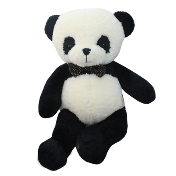 Panda doll holds panda plush toy Giant panda holds pillow children's rag doll doll birthday present