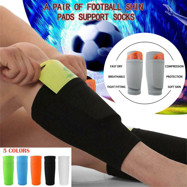 New 1Pair Outdoor Soccer Shin Guard Pads Universal Football Breathable Shinguard Leg Protector Safety Protector Sports#N10