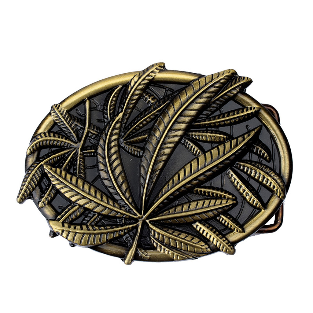 Belt Buckle For Women Men With Exquisite Embossed Bronze Fall Leaf Pattern  Jeans Gift Belt Buckle