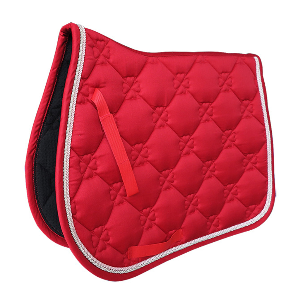 Supportive Equipment Shock Absorbing Soft Cotton Blends Dressage Saddle Pad Equestrian Performance All Purpose Horse Riding