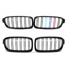 Car Front Bumper Kidney Grille For BMW 3 Series F30 F31 F35 2012 2018 Gloss Black Racing Grills Car Accessories High Quality ABS