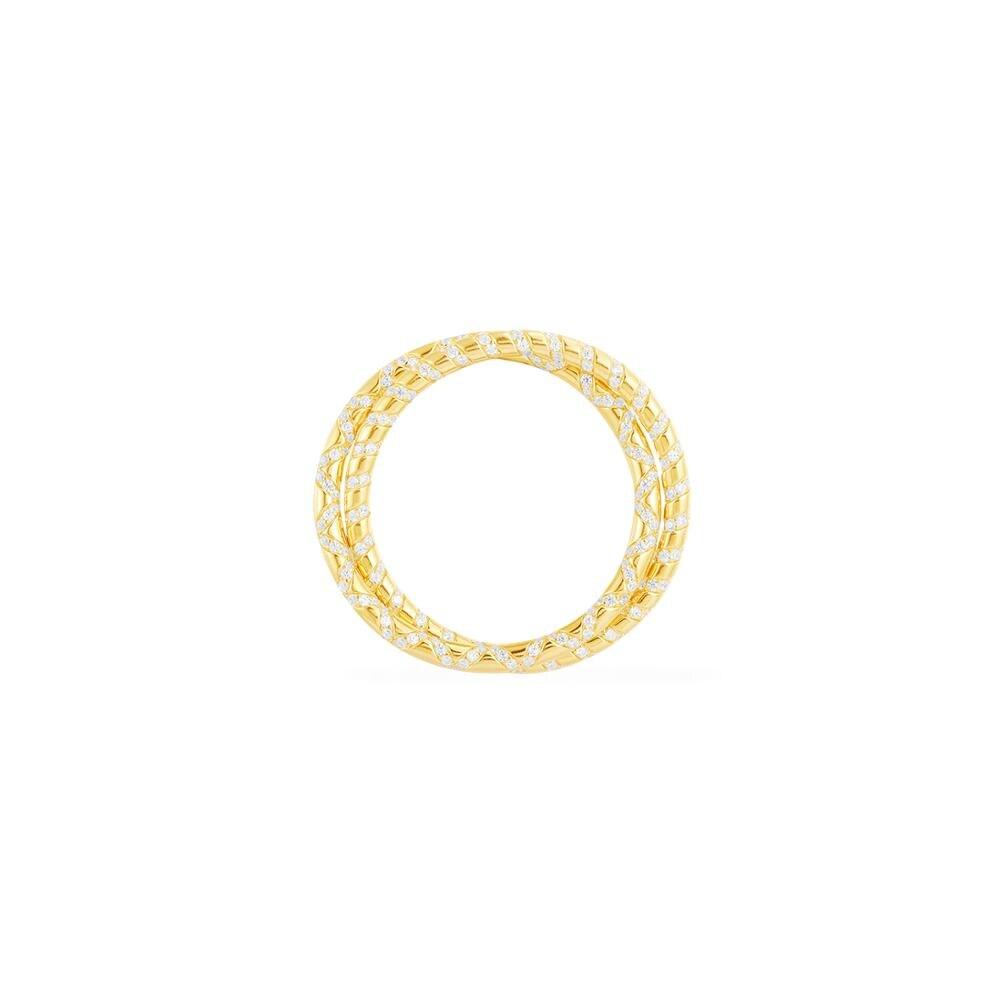 Nouveauté 925 argent Sterling or jaune couleur entrelacés Double grand cercle boucles d'oreilles Micro cubique Zircon femmes Mana bijoux
