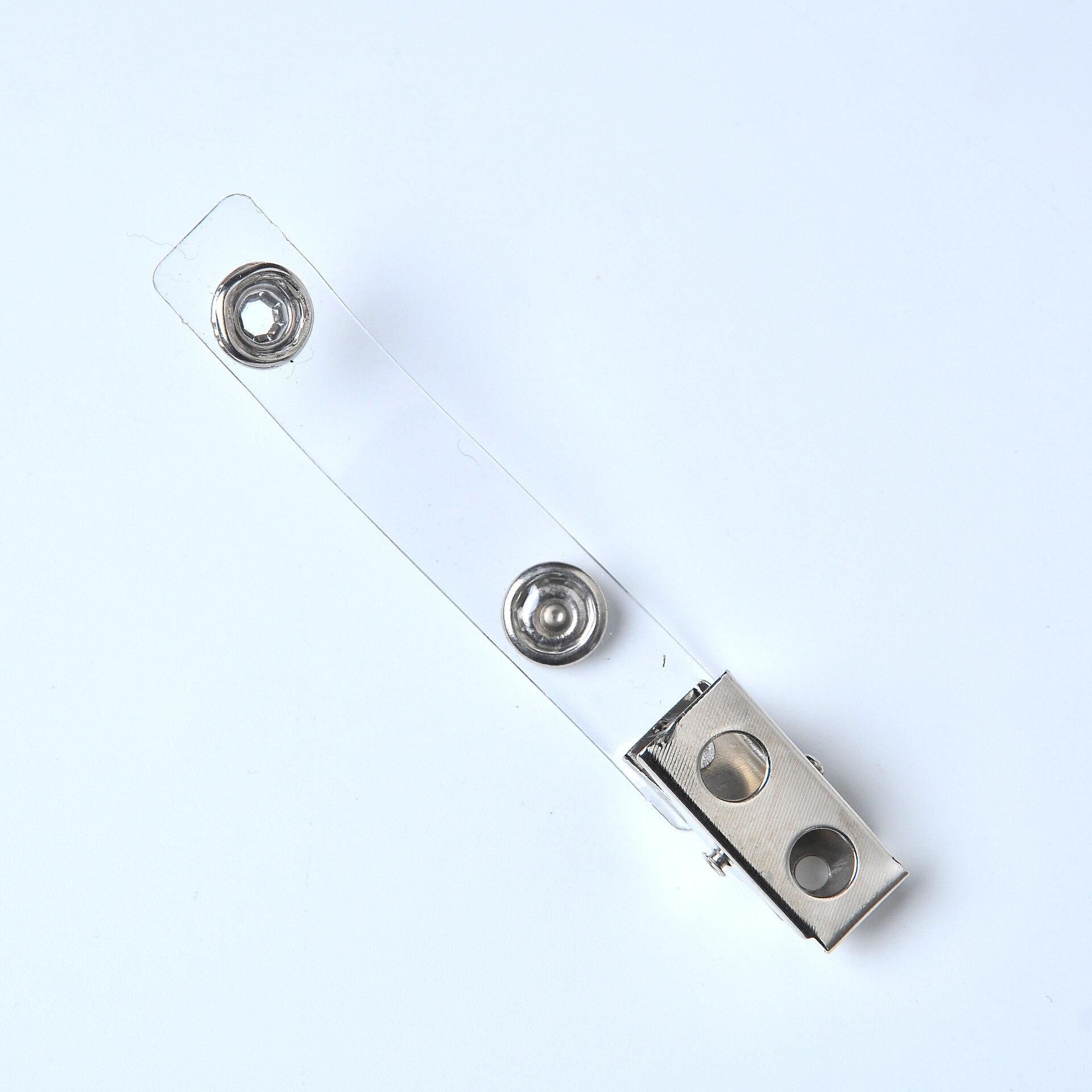 Одиночное Diplopore прозрачным ремешком с металлической застежкой, документ сумка со значком зажим для магазинов и супермаркетов 2-отверстие 4