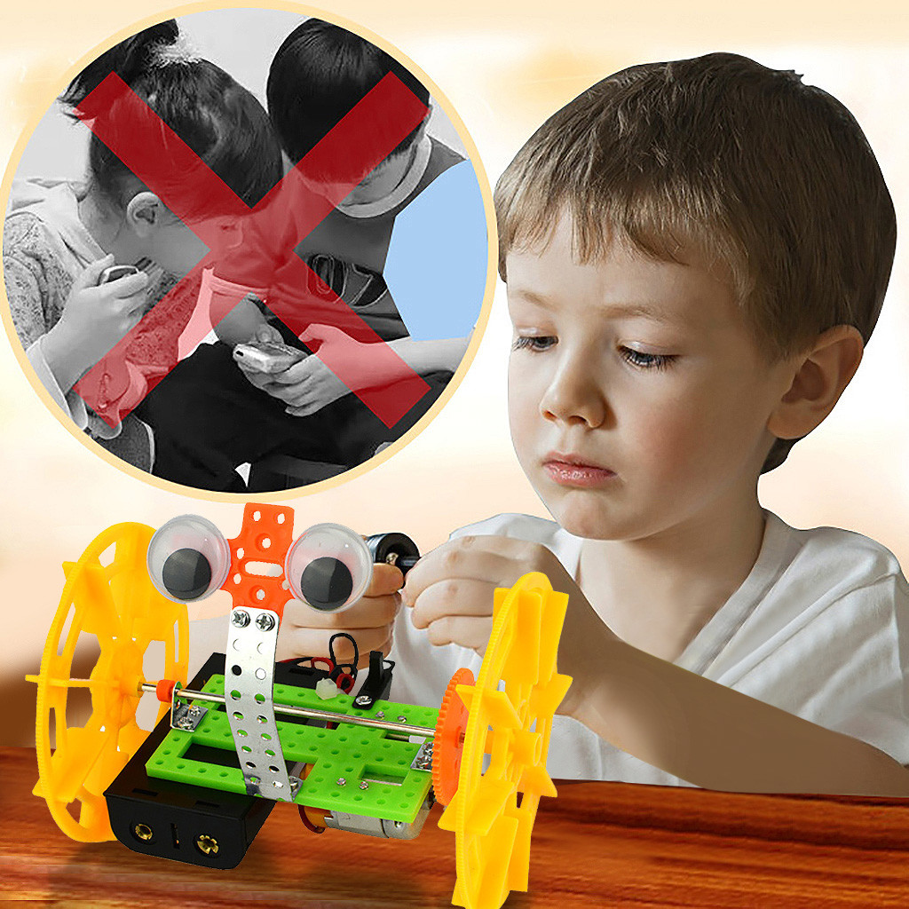 Kids Two-wheeled Balancing Robot Toy Baby Early Science Educational Toys Diy Electric Intelligent Model For Children Gifts