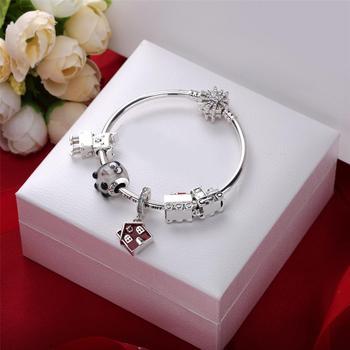 YDX 925 Sterling Silver Luxury Brand Women Bracelet Silver Charm Bracelet For Women DIY Beads Bangles Jewelry Gift