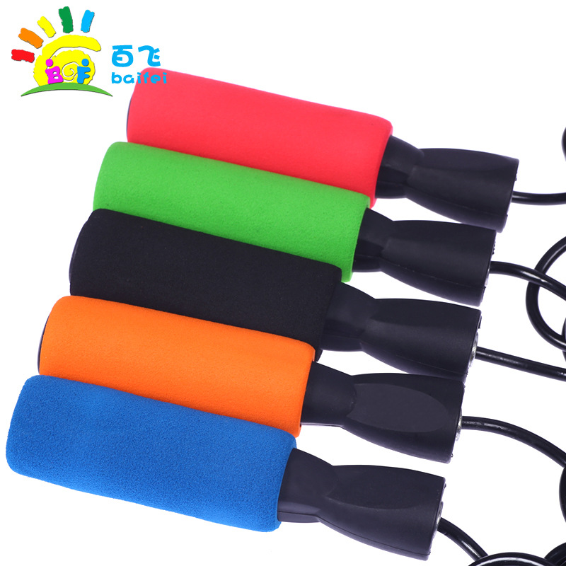 Children Jump Rope Single Person Kids Rope Adjustable Length Young STUDENT'S Profession Toy Apparatus Supplies Sports