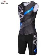 Ropa de ciclismo para triatlón sin mangas, traje de piel para hombre, Conjunto de Jersey de triatlón, para nadar, correr y montar en bicicleta