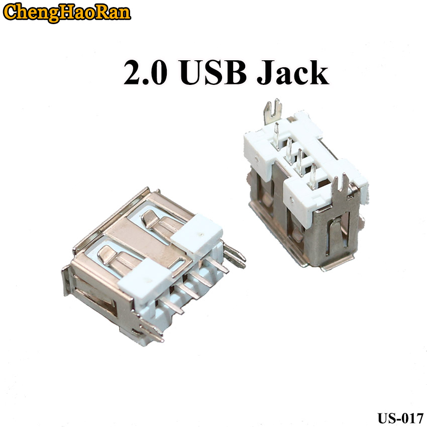 ChengHaoRan 2pcs/lot Side Vertical AF10.0 USB Socket Type A Short Body 180 Degree Straight Insert With Side