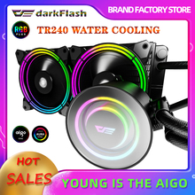 Darkflash Water Cooler Cpu Geïntegreerde Walter Koeler Argb Heatsink Waterkoeling Kit Radiator Rgb Fan Lga 1155/2011/AM3 +/AM4 Amd