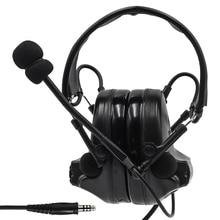 Tactical Headset Comtac II Active Noise Canceling Pickup earphone Airsoft Military Headset tactical shooting Earmuffs BK genome ii bk rd