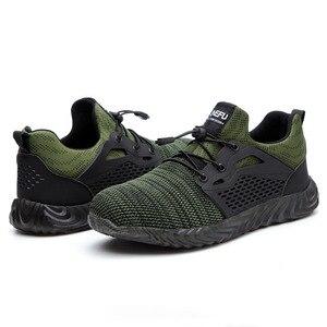 Image 3 - Zapatos de seguridad con punta de acero para hombre, zapatillas informales transpirables para exteriores, botas a prueba de perforaciones, zapatos industriales cómodos para invierno