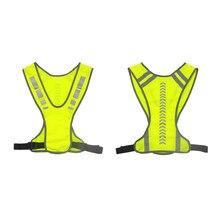 Colete reflexivo jaqueta de segurança para correr correndo ciclismo motocicleta luz da noite colete bicicleta reflexivo aviso coletes segurança