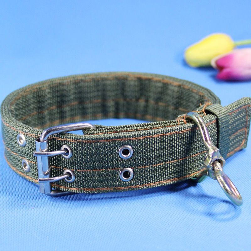 4-Layer Neck Ring Army Green Neck Ring Nylon Collar Pet Collar Dog Supplies Pet Collar Dog Collar