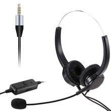 VKTECH سماعة رأس USB مع ميكروفون وسماعات رأس للأعمال مقاس 3.5 مللي متر وميكروفون وإلغاء ضوضاء لمكالمات مراكز الاتصال