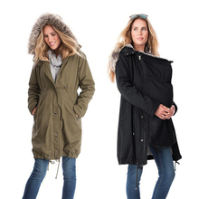 Maternity Coats Pregnancy Clothings Winter Jackets Kangaroo Mother Fur Hooded Coat Patchwork Clothes For Pregnant Women Mujer все цены