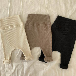 New Autumn Winter Baby Boy Cotton Ribbed Leggings Pant Infant Newborn Kids Casual Long Pants All-match High-waisted Trousers