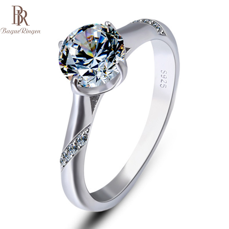 Bague Ringen Rings For Women Sterling Silver 925 Fashion Classic Temperament Weddings Engagement Valentine Gifts High Quality