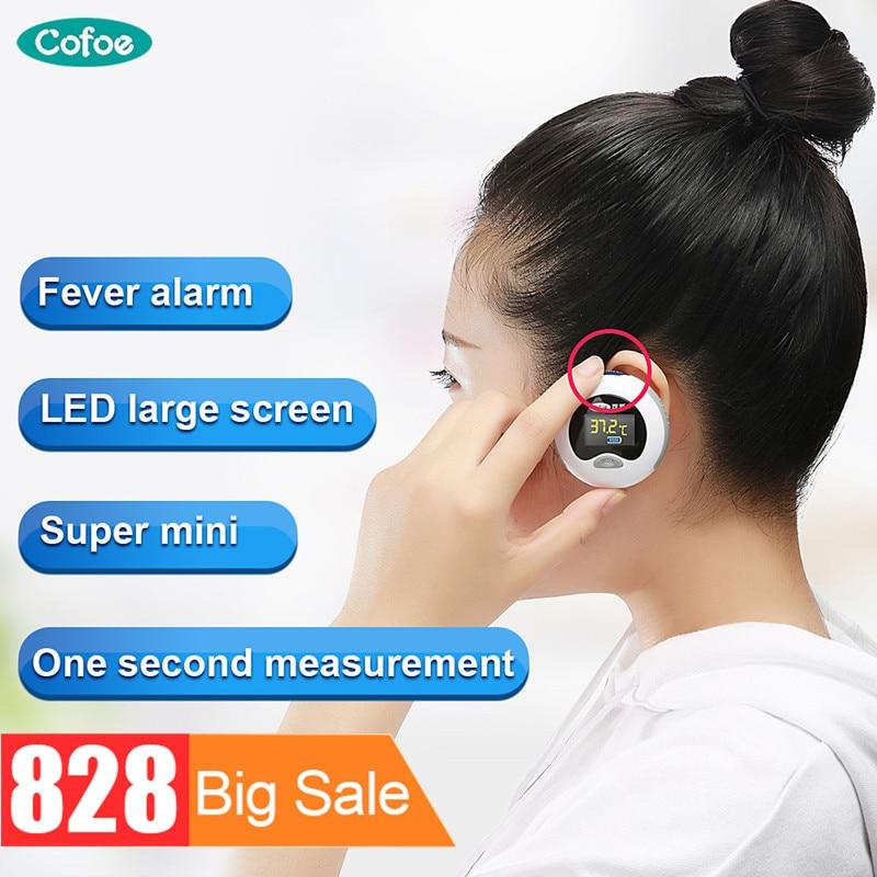 Cofoe Mini Bolso Termometro Termômetro de Ouvido Digital Portátil Termômetro Infravermelho para o Bebê e Adulto