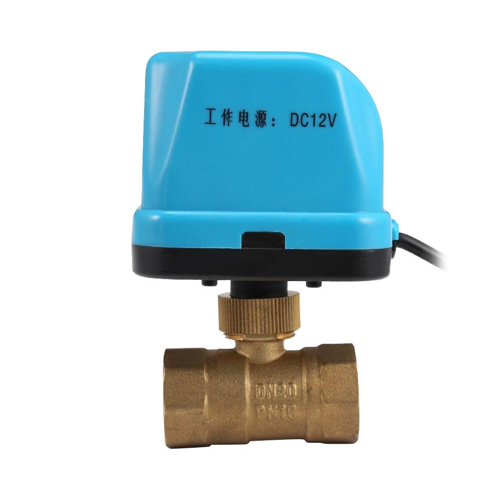 Image 4 - 220V 12V электрический моторизованный шаровой клапан для кондиционирования воздуха воды Системы контроллер 2 полосная 3 жильный 1.6Mpa DN15 DN20 DN25-in Клапан from Товары для дома