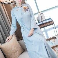 2020 Chinese Dress classic lace women dress elegant bridesmaid wedding dresses flower cheongsam gowns chiffon evening qipao