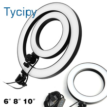 "Ring Lamp Video Light 16/20/26cm Dimmable For Youtube Tiktok Video Makeup LED Selfie Ring Light USB Photography Light 6"" 8"" 10"""
