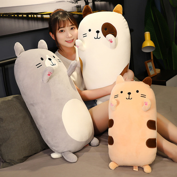 Nice Hot 50CM/70cm Cute Soft Cat Pillow Plush Toys Stuffed Pause Office Nap Bed Sleep Cushion Home Decor Gift Doll for Kids Girl fancytrader 200cm x 150cm giant plush stuffed usavich bed sofa tatami carpet nice gift for kids free shipping ft50668
