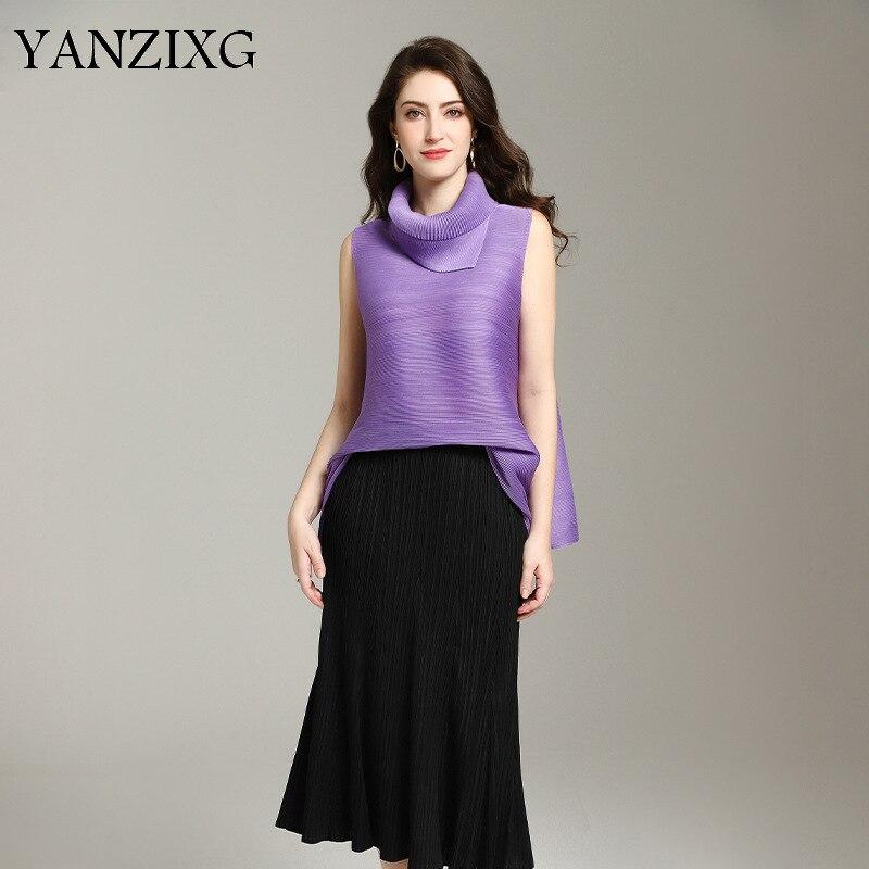Mode sans manches t-shirts femmes couleur unie sauvage décontracté dames t-shirts été nouveau 2019 femmes vêtements Z852