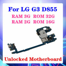 100% Original ed for LG G3 D855 RAM 2G/3GLogic Boards for LG G3 D855 Motherboard with Android System 16gb / 32gb(China)