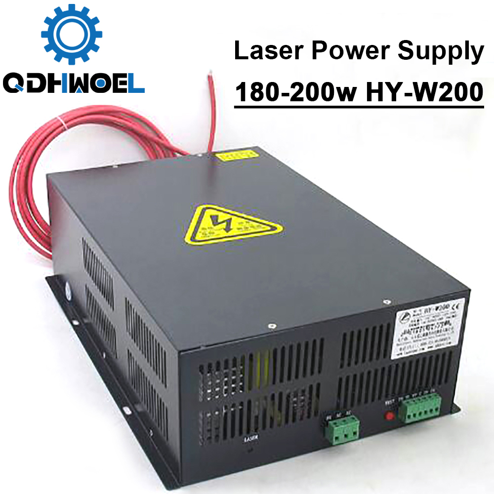 200 Вт CO2 лазерный источник питания HY W200 для 180 Вт 200 Вт CO2 лазерной гравировки резки