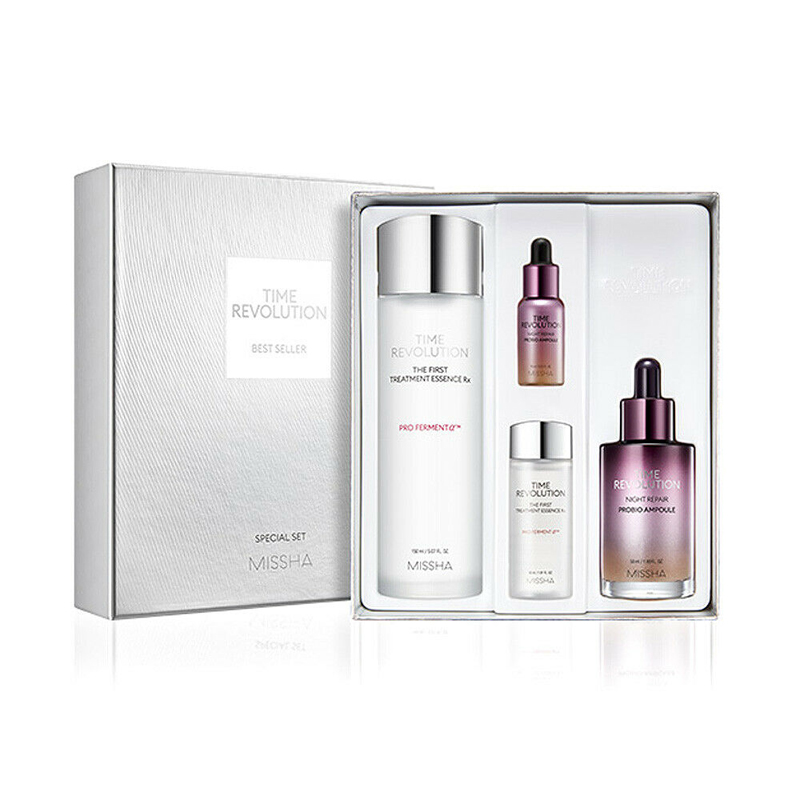 MISSHA Time Revolution Best Seller Special Set Facial Serum Anti Wrinkle Whitening Cream Moisturizing First Treatment Essence
