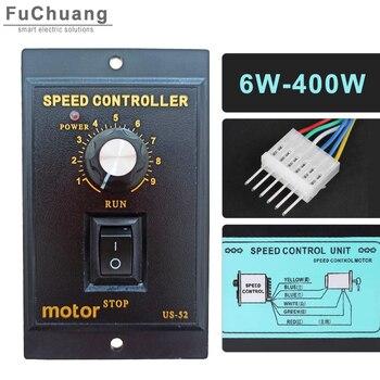 US-52 AC Motor Speed Pinpoint Regulator Controller 6W/10W/15W/25W/40W/60W/90W/120W/140W/150W/160W/180W/200W/250W/300W/400W us 52 ac 220v speed motor controller speed regulator 400w power forword backword