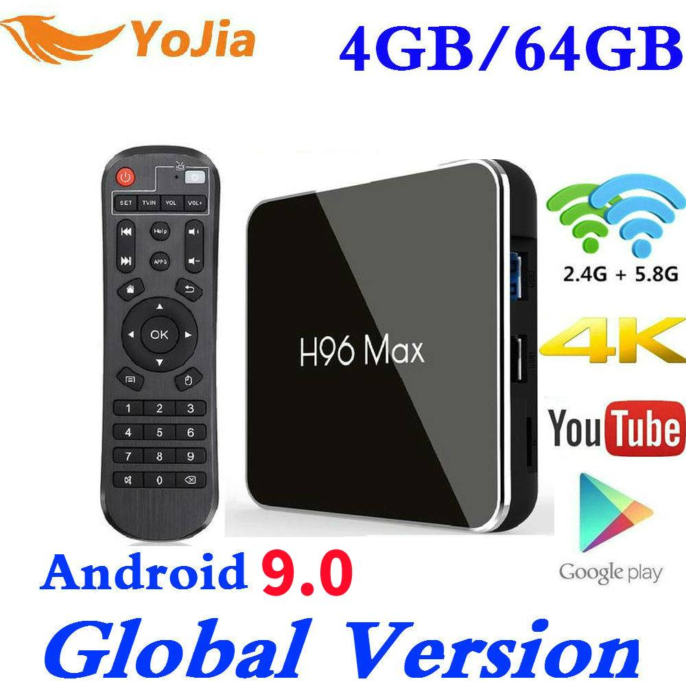4GB RAM 64GB Rom Android 9.0 TV BOX H96 MAX X2 Amlogic S905X2 Smart 4K lecteur multimédia Android 8.1 2.4G & 5G Wifi H96MAX décodeur