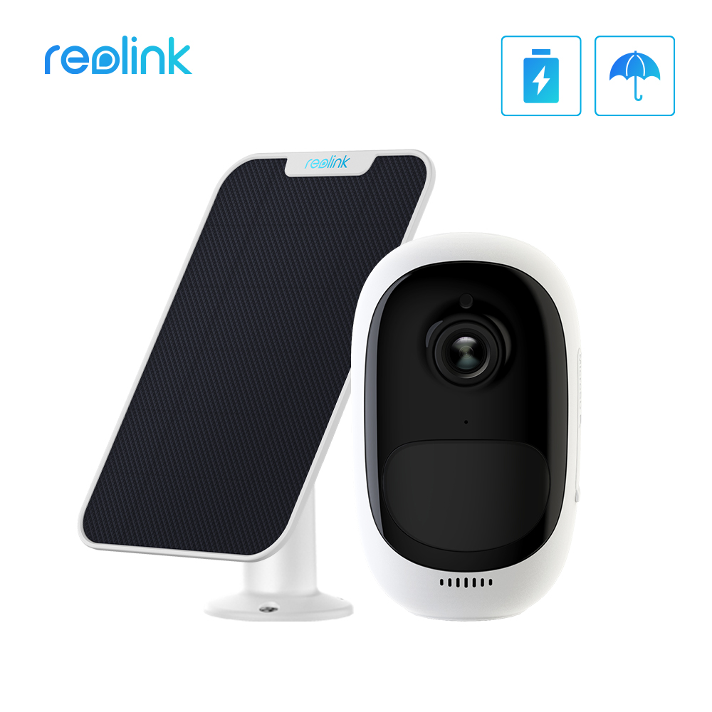 Reolink Surveillance-Camera Battery-Wifi Power-Charging Solar-Panel Rechargeable Security