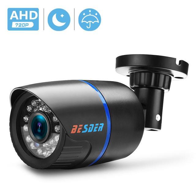 Besder ahd analógico de alta definição vigilância câmera infravermelha 720p ahd cctv câmera segurança câmeras bala ao ar livre