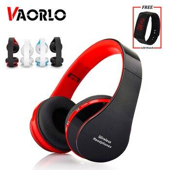 VAORLO Folding Wireless Headphone With Mic Kids Children Bluetooth Earphone Stereo Bass Headsets For PC MP3 iPad All Smart Phone