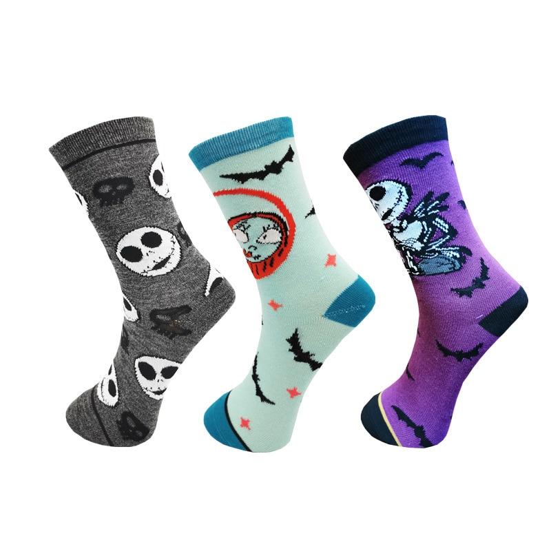 The Nightmare Before Christmas Jack Skellington Sock Cosplay Cotton Tube Socks Adult Stockings
