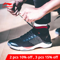 Li Ning Men DAGGER Badminton Shoes Mono Yarn Cushion DRIVE FOAM Wearable TUFF TIP LiNing li ning Sport Shoes AYAN015 XYY096