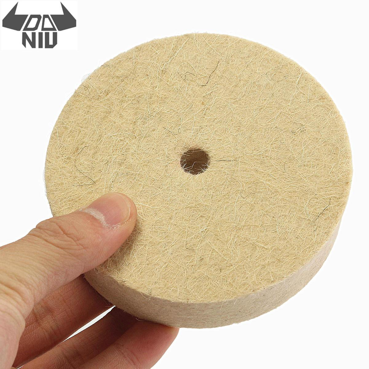 DANIU 1PC 6 Inch 150mm Wool Felt Polishing Buffing Round Wheel Wool Felt Polisher Disc Pad Buffer For Wood Metal Polishing