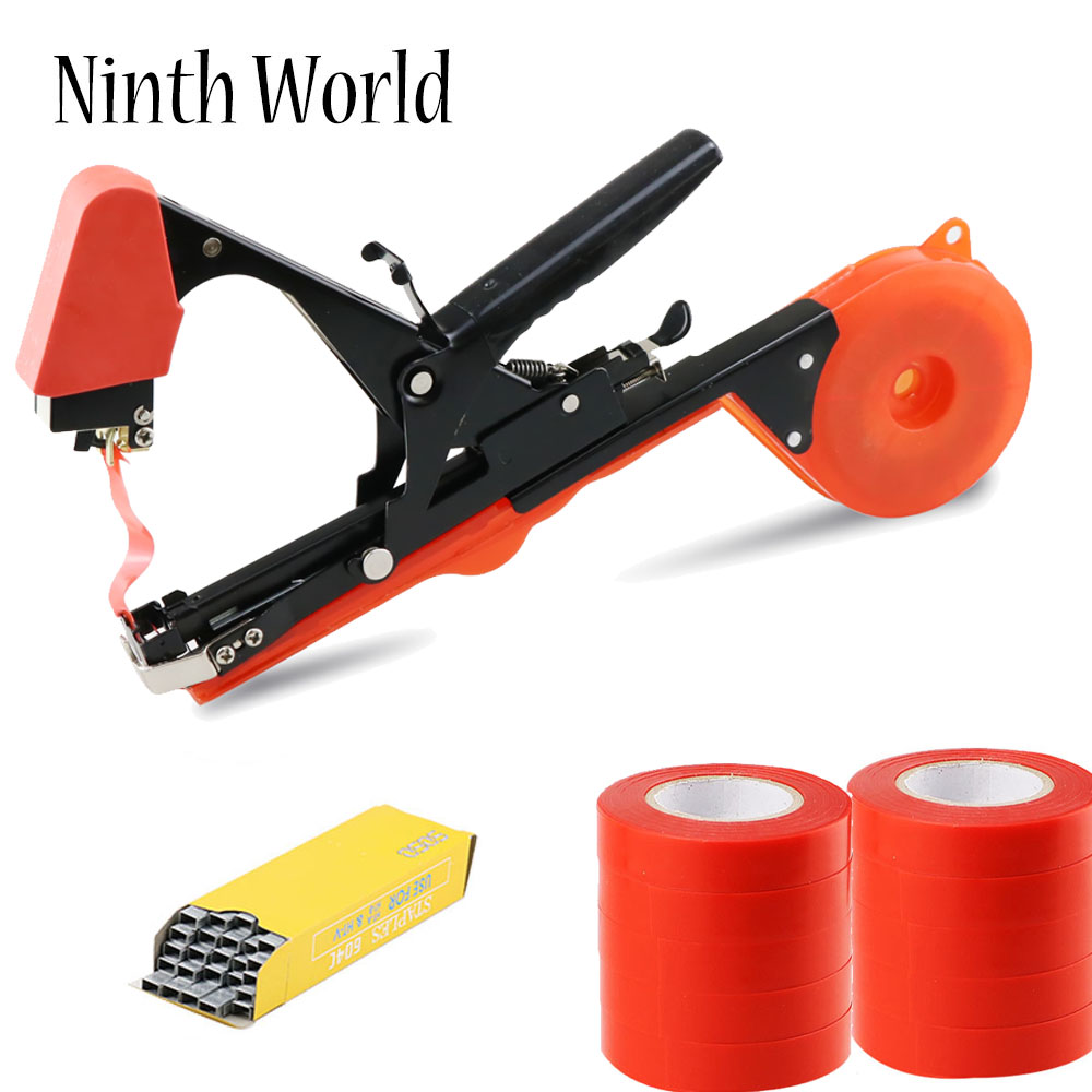 New Garden Tool Plant Tying Tapetool Tapener Machine Branch Hand Tying Machine Packing Vegetable Stem Strapping Pruning Tool Set