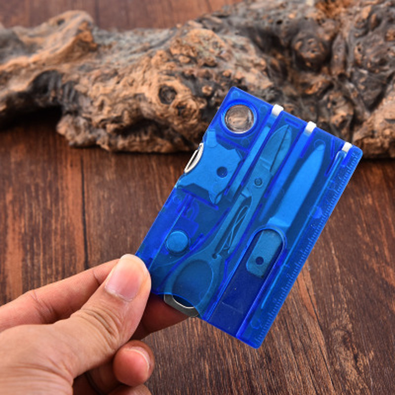 10 In1 Pocket Credit Card Multi Tools Outdoor Survival Camping Equipment 1 Box Portable Hiking Card Tools